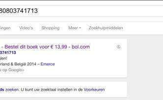 Bol.com de advertentie op Google