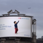 Interactief reclamebord van British Airways