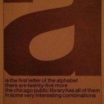 Advertentie uit de jaren ´70 voor de bibliotheek van Chicago
