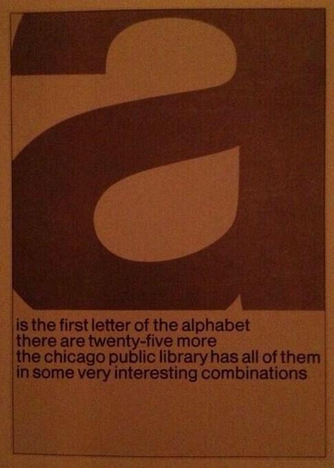 Chicago Public Library A is de eerste letter van het alfabet. Jaren 70