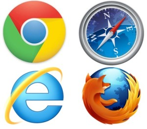 Chrome, Internet Explorer, Safari, Mozilla Firefox