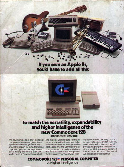 Commodore Apple vergelijkende advertentie