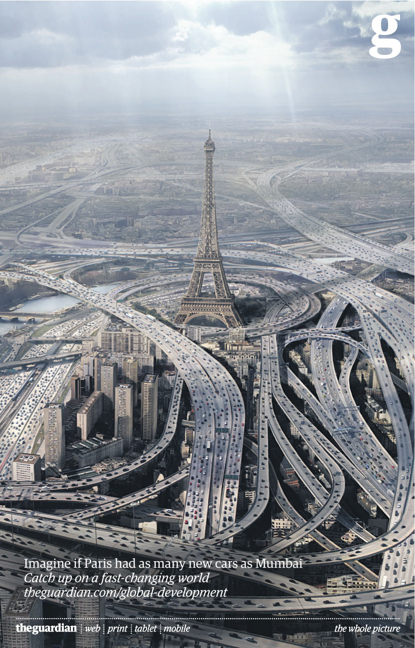Eiffeltoren Guardian. Imagine Paris had as many new cars as Mumbai