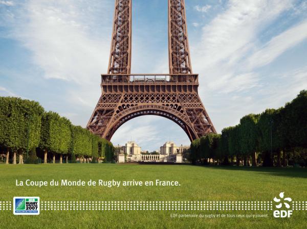 Eiffeltoren Rugby Coupe de monde