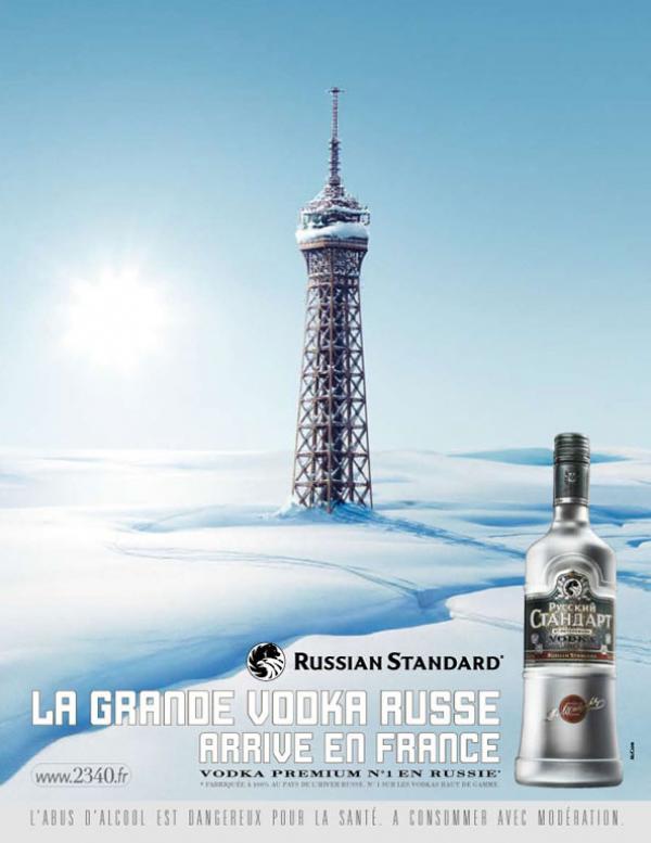 Eiffeltoren Russian Standard Vodka