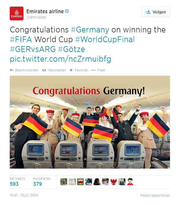 Emirates Congratulations Germany wk14