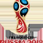 Logo WK voetbal 2018 in Rusland