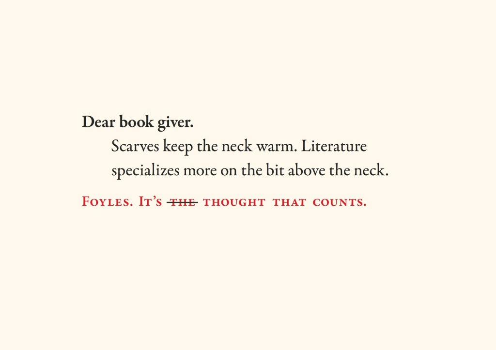 Foyles -Dear bookgiver 5