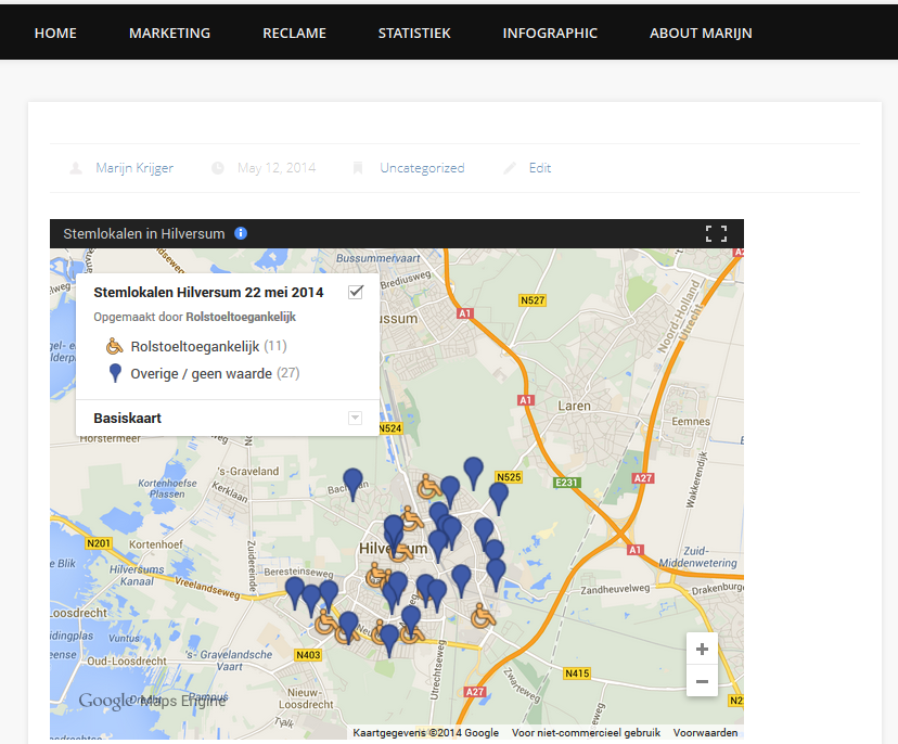 Google Maps - aangepaste kaart delen - preview