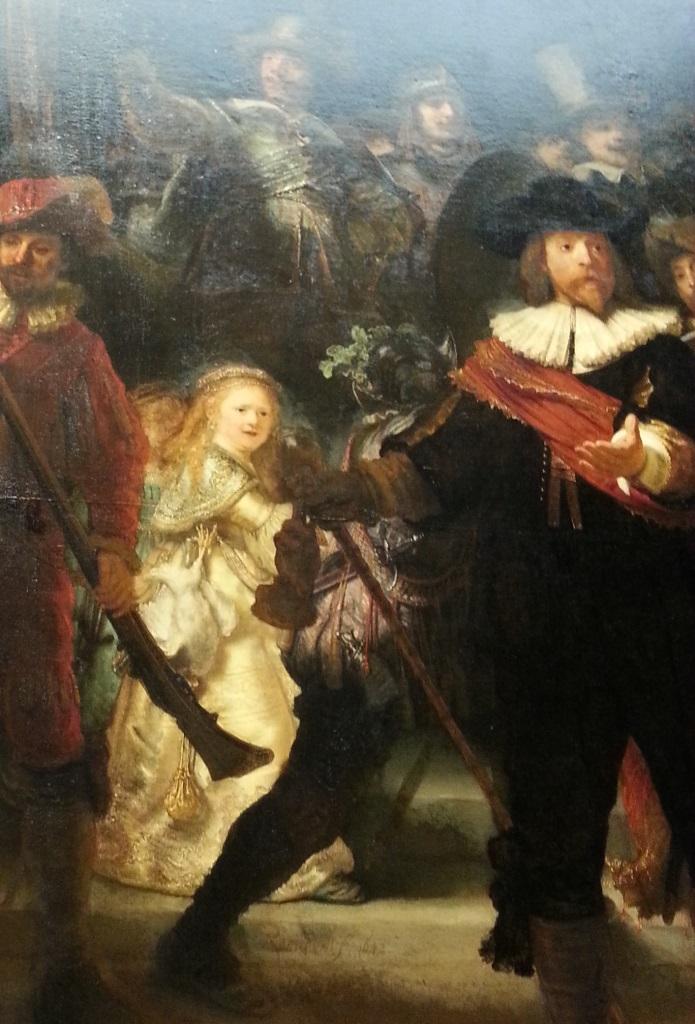 Het meisje in de gouden jurk, Nachtwacht, Rijksmuseum