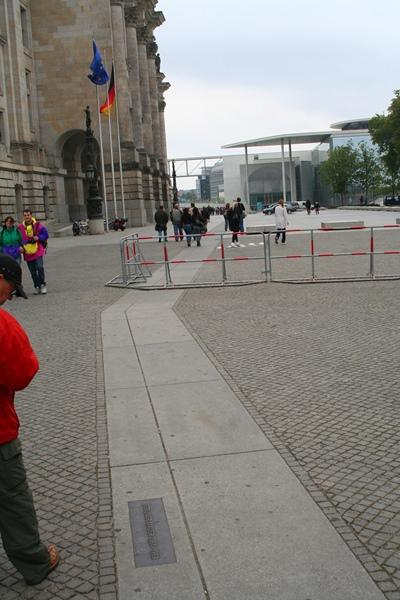 Hier stond de muur Berlijn
