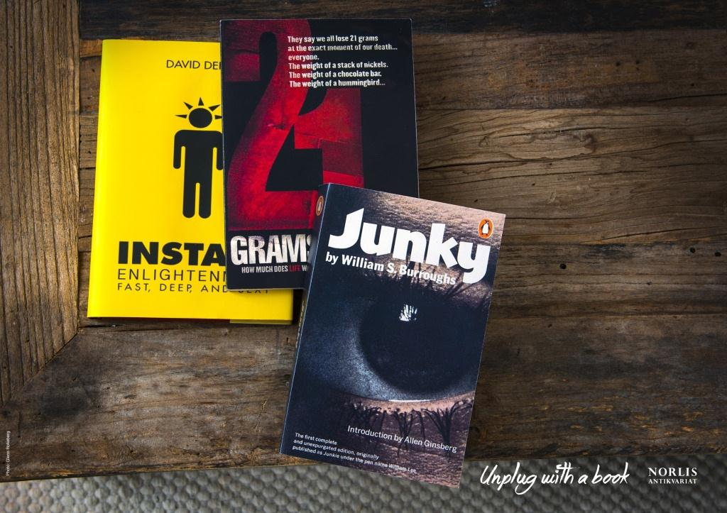 Instagram Junky, unplug with a book
