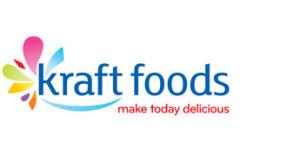 Het nieuwe logo van Kraft. Vrolijke kleuren en compleet met een smiley.