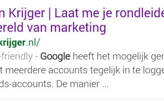 Marijn Krijger is mobile-friendly op Google