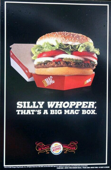 McDonald's Burger King Big Mac Whopper