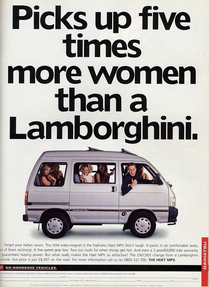 Picks up five times more women than a Lamborghini