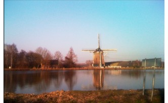 Reflection of windmill
