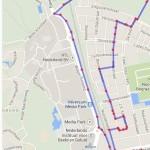 Kaart: Route vrijdag 6-6-2014, avondvierdaagse Hilversum