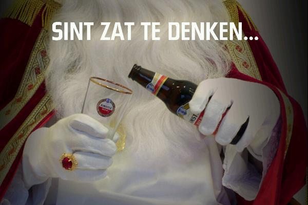 Sinterklaas inhaker Amstel dank u sinter vaasje