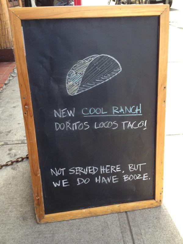 Stoepbord Taco