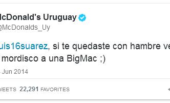 Suárez inhakers op bijtincident McDonald's Uruguay