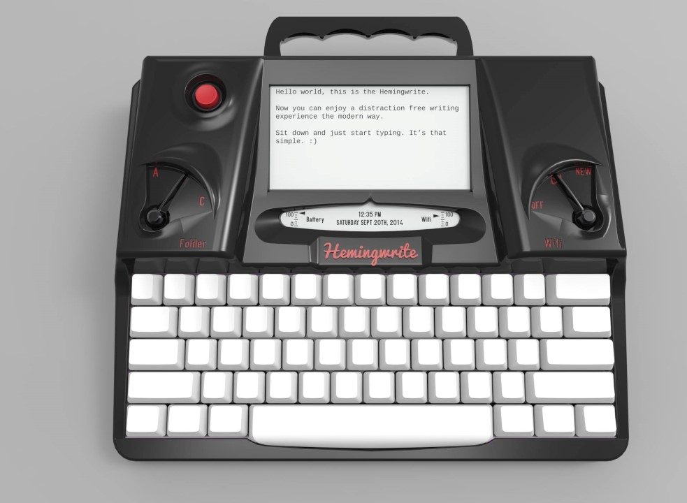 Typemachine Hemingway Hemingwrite