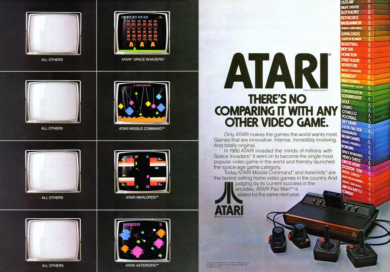 Vergelijkende reclame Atari