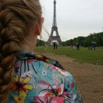 Weekly photo challenge – Contrast – French braid and Eiffel Tower