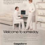 Advertentie uit 1982 van CompuServe voor het internet