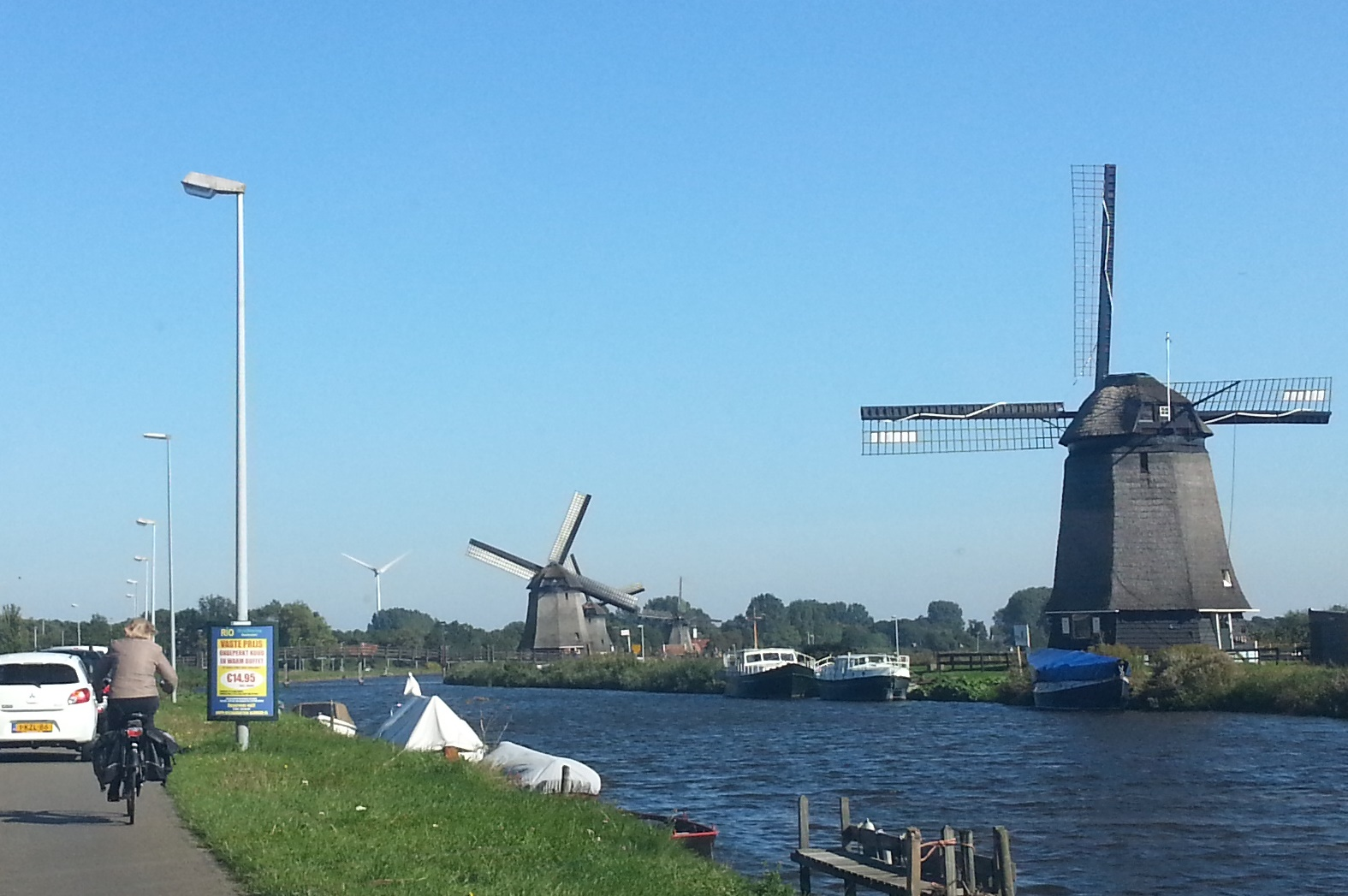 Windmills, old and modern