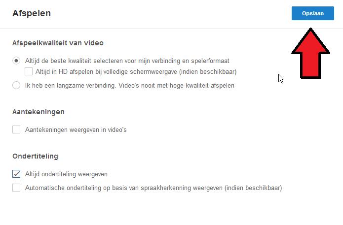 YouTube annotations uitzetten aantekeningen uitzetten opslaan