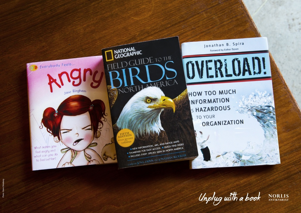 angy birds overload, unplug with a book