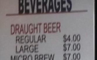 bier, regular, large Century Link Arena