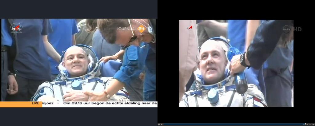 1-7-2012 André Kuipers keert terug uit ISS