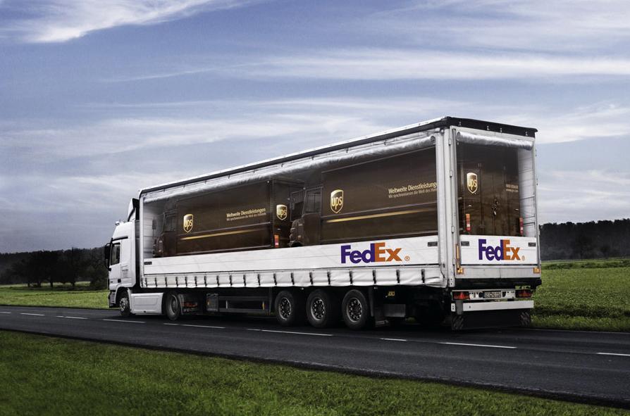 FedEx vervoert UPS