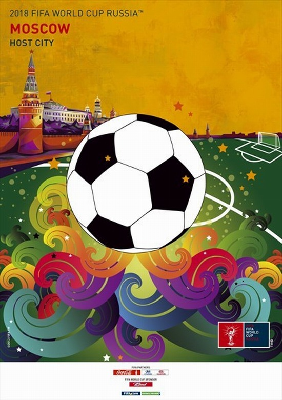 fifa-world-cup-2018-WK voetbal russia-moscow-poster