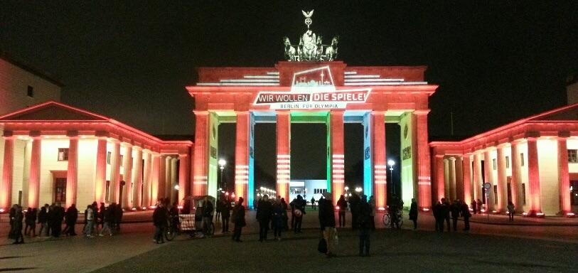Brandenburger Tor Berlijn, Wir wollen die Spiele