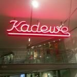 Eerste neonreclame in Berlijn – KaDeWe