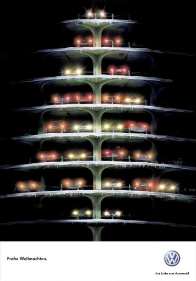 kerstboom parkeergarage volkswagen