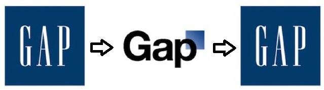logo van Gap oud nieuw en nieuwer
