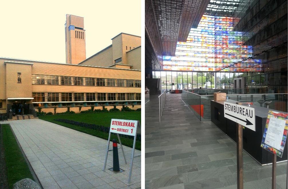 mooiste stemlokaal in Hilversum verkiezing