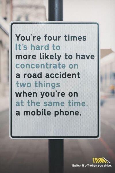 telefoon uit als je gaat rijden