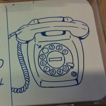 Telefoon met draaischijf, T65