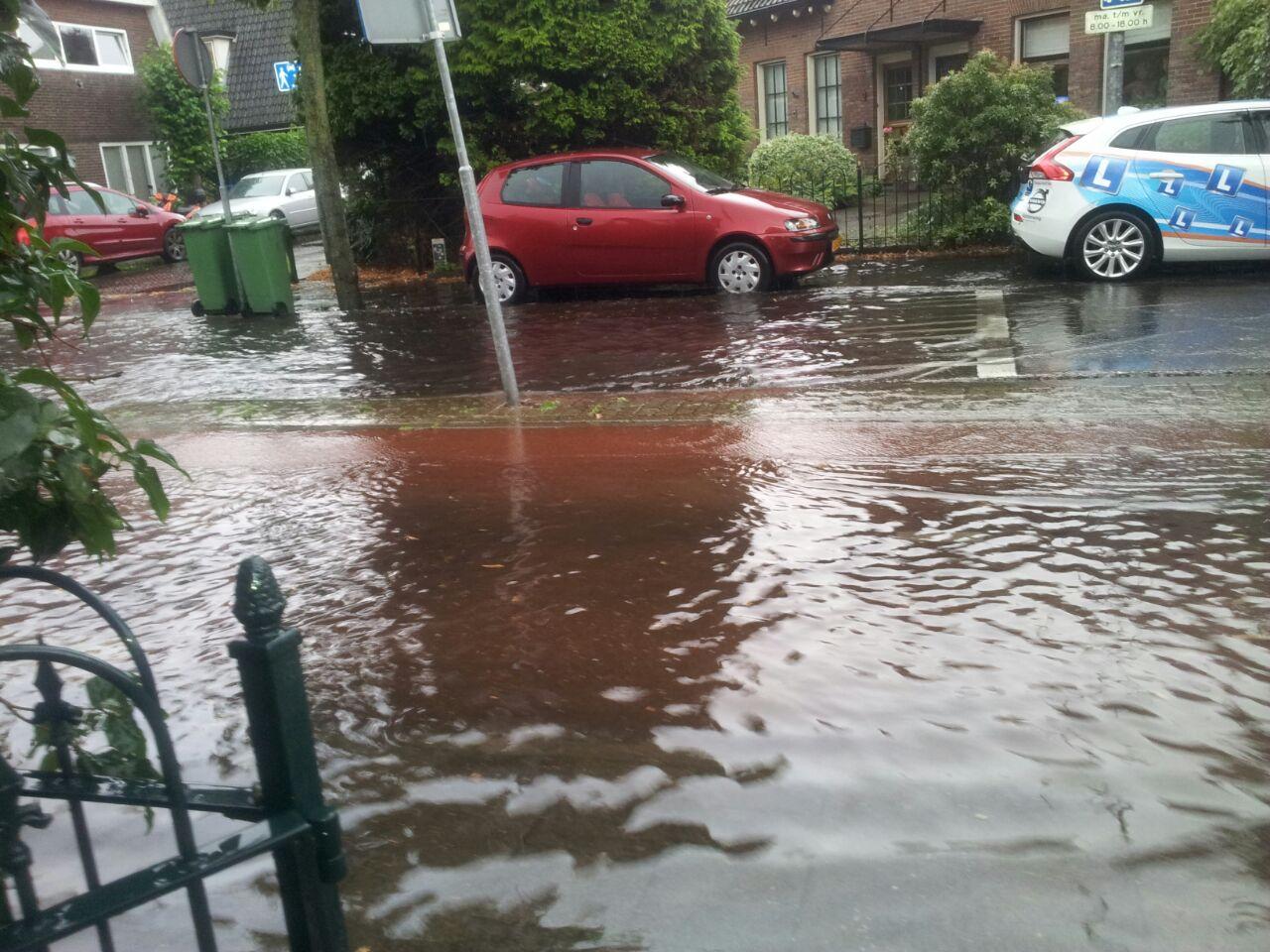 Regen,wateroverlast, Hilversum