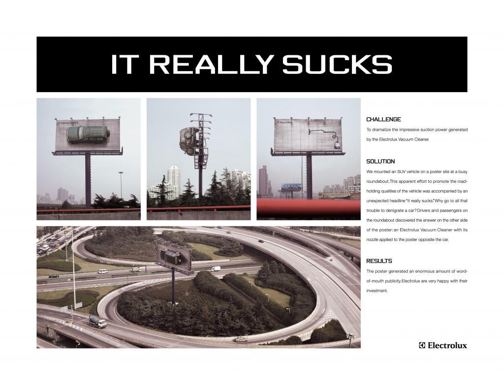 Electrolux SUV op billboard