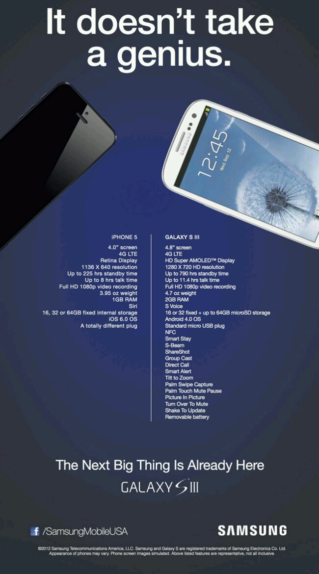 Samsung Galaxy SIII en Apple iPhone 5