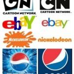 Logo's, bewerkt met een strijkijzer