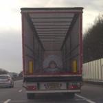 Originele afbeelding op vrachtwagen