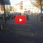 De fanfare oefent, een rondje lopen door Hilversum