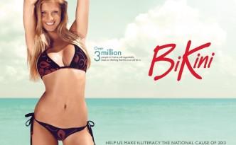 Bikini niet lezen